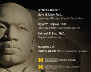 MLK's Legacy for Social and Behavioral Science Research panel: Dr. Lloyd M. Talley, Dr. Taylor W. Hargrove, Dr. DeAnnah R. Byrd