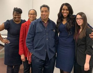 Three young women scholars with Dr. Linda Chatters and Dr. Robert Taylor